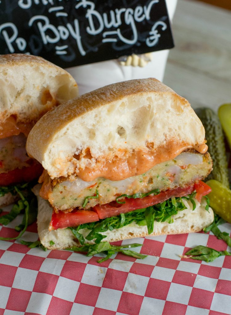 Shrimp Po Boy Burger