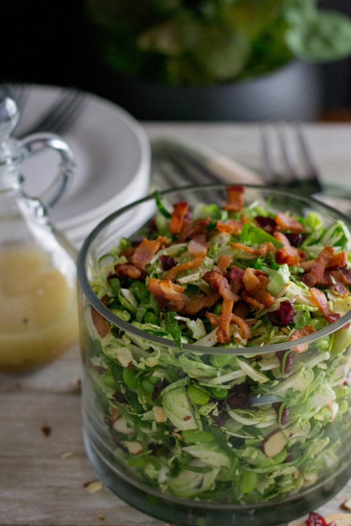 Detox Brussels Sprouts Spinach Salad