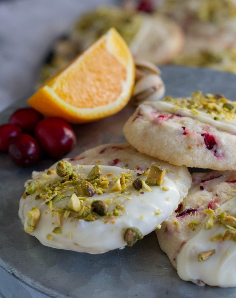 Fresh Cranberry Orange Shortbread Cookies