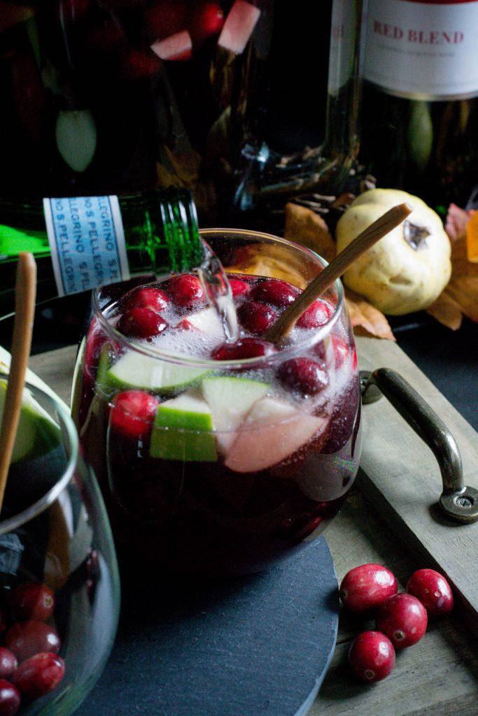Alcohol Free Cranberry Cider Sangria