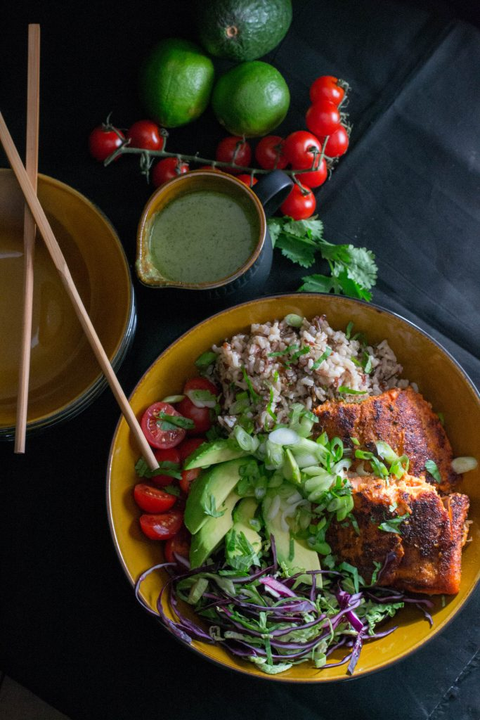 Multi Grain Chipotle Salmon Bowls