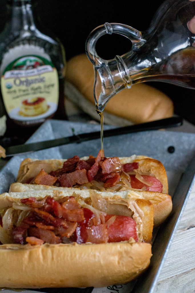 Peanut Butter Bacon Franks