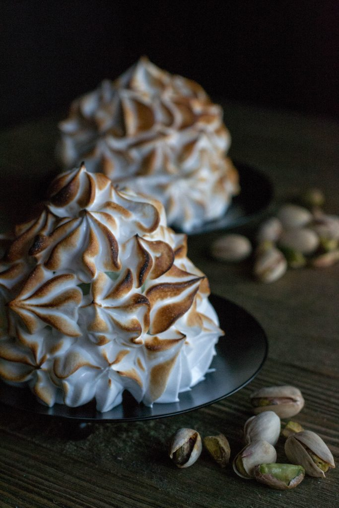 Brownie Baked Alaska for Two