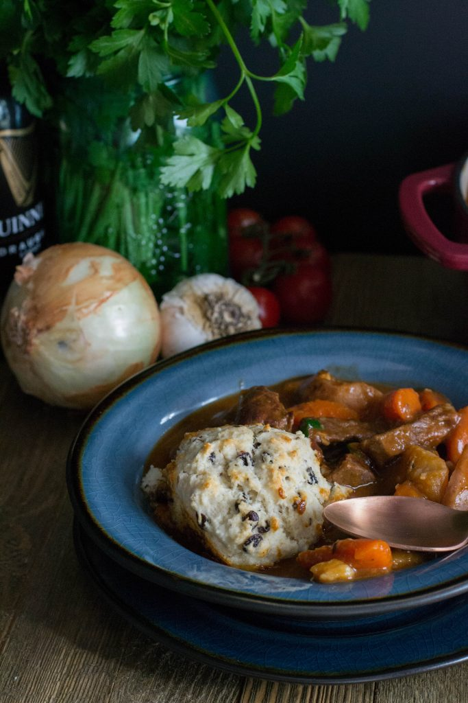 Guinness Beef Stew with Irish Soda Biscuits