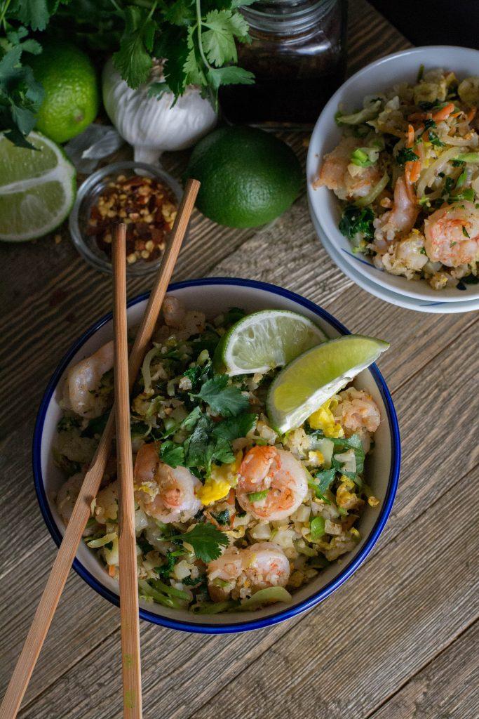 Spicy Shrimp Cauliflower Fried Rice
