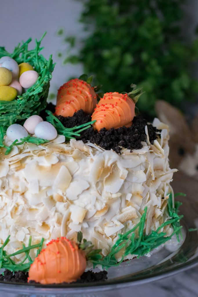 Triple Layer Toasted Coconut Cake