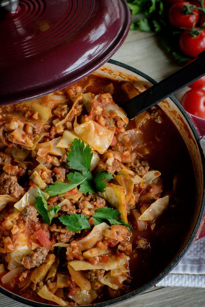 One Pot Unstuffed Cabbage Rolls
