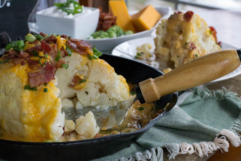 Whole Roasted Loaded Cauliflower