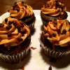 Dark Chocolate Salted Caramel Cupcakes with Salted Caramel Frosting