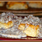 Southern Style Sausage Gravy on Boyd's Biscuits