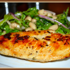 Rosemary Lemon Chicken with Arugula Cannellini Bean Salad