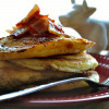 Cinnamon Roll Pancakes with Brown Sugar Bacon