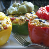 Mexican Meatless Stuffed Peppers