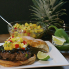 Teriyaki Burger with Pineapple Mango Salsa