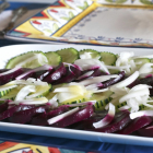 Beet, Cucumber, Sweet Onion Salad with Dijon-Honey Dressing