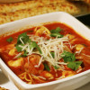 Italian Tortellini  Soup with Chicken Sausage