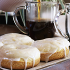 Baked French Vanilla Glazed Donuts