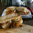 Grilled Spaghetti and Cheese Sandwich