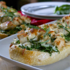Garlic Chicken French Bread Pizza