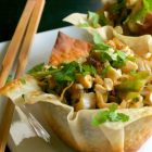 Chow Mein Egg Roll Cups