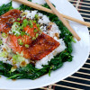 Glazed Salmon Rice Bowl