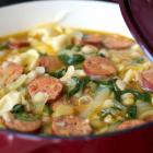 White Bean Sausage Tortellini Soup
