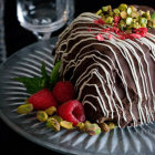 Dark Chocolate Pistachio Gelato Tartufo