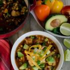 Insta Pot Salsa Verde Chicken Tortilla Soup