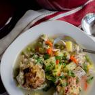 Turkey and Cranberry Herb Dumplings