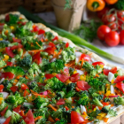 Two Ingredient Crust Veggie Pizza
