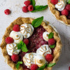 Raspberry Italian Meringue Pie