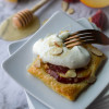 Easy Almond Peach Tartlets