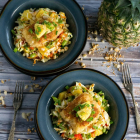 Macadamia Crunch Cod with Hawaiian Pineapple Slaw