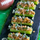 Buffalo Chicken Stuffed Celery Sticks