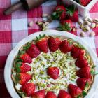Strawberry Pistachio Cream Pie