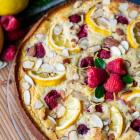 Raspberry Lemon Almond Ricotta Cake