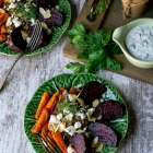 Roasted Veggie Lentil Salad