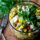 Summer Sweet Corn Crab Salad