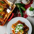 Gluten-Free Chicken Enchilada Lasagna