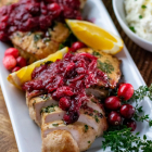 Turkey Tenderloin with Orange Maple Cranberry Sauce