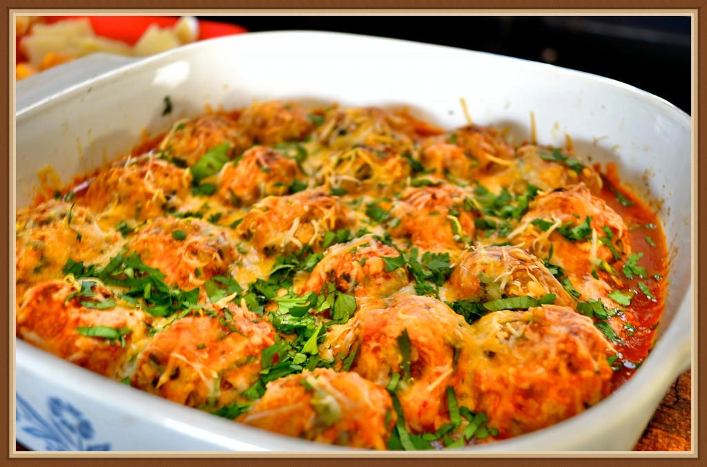 Chicken Enchilada Meatballs