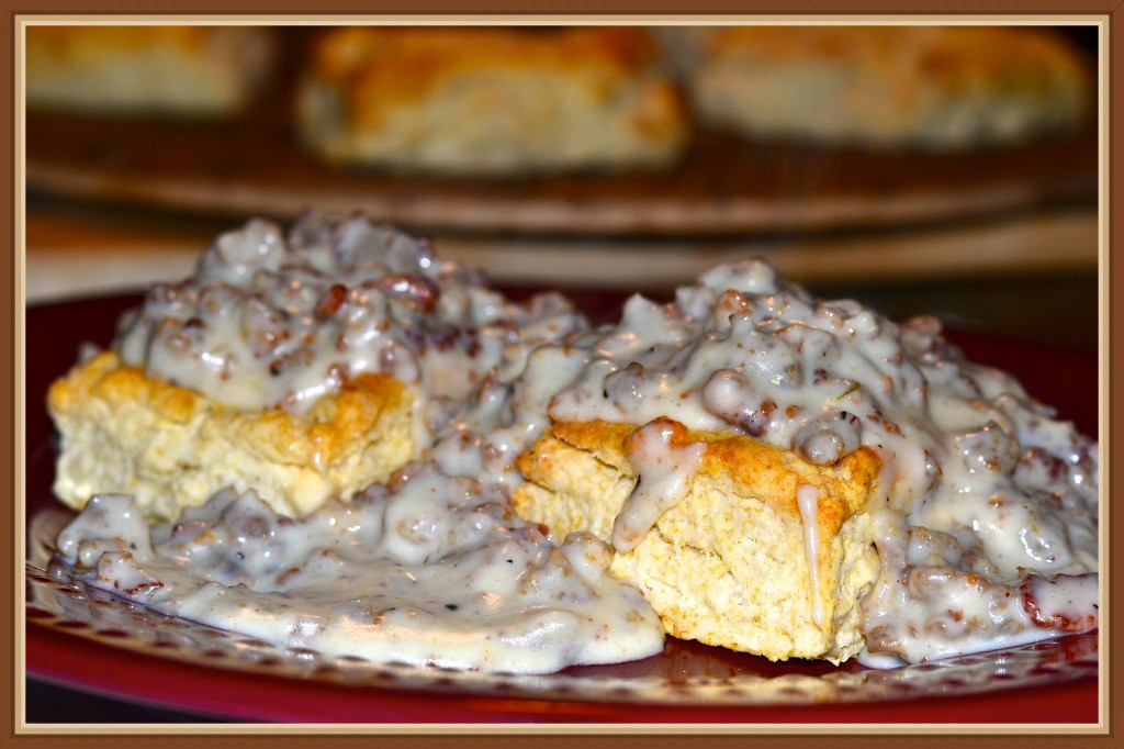 Boyd's Biscuits and Sausage Gravy