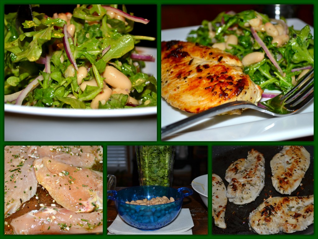 Chicken White Bean Salad Collage