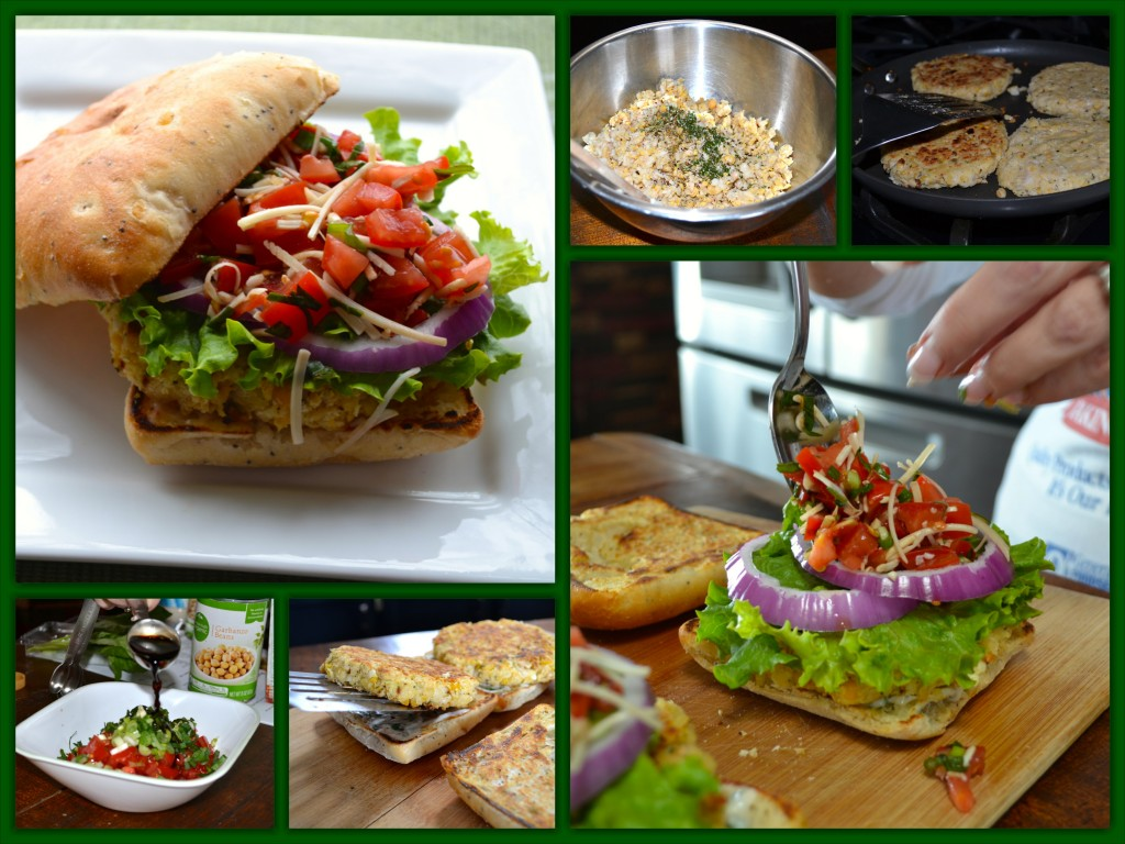 White Bean Burger Collage