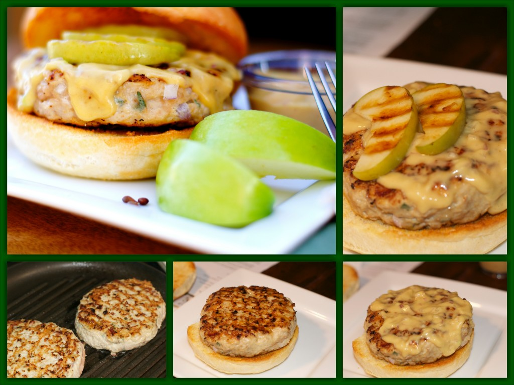 Apple Bacon Chicken Burger Collage