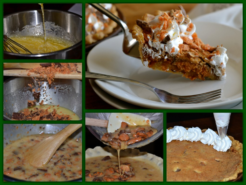 Butterfinger Pie Collage