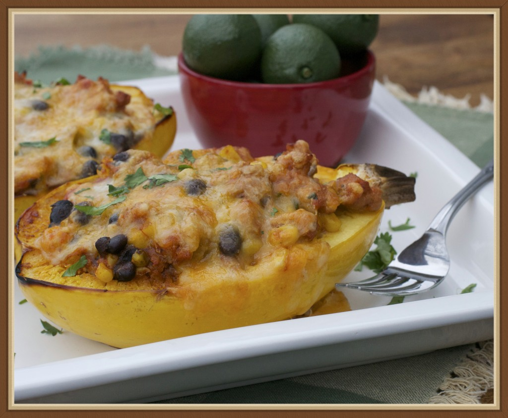 Chicken Enchilada Stuffed Spaghetti Squash 2