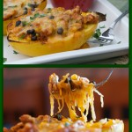 Chicken Enchilada Stuffed Spaghetti Squash1Collage