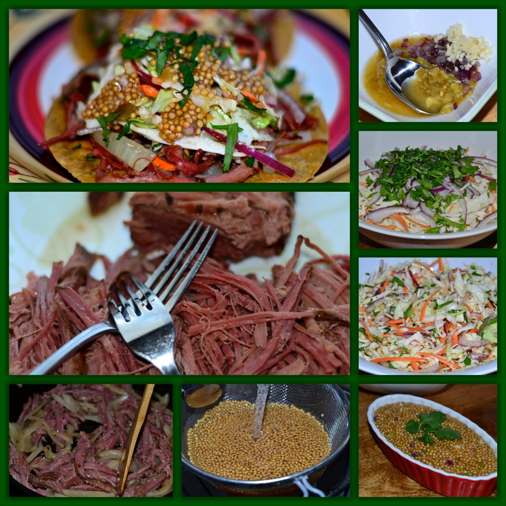 Corned Beef Taco Collage