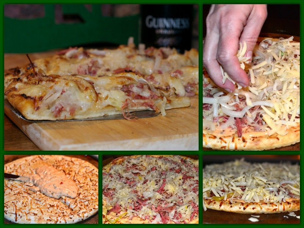 Rueben Pizza Collage